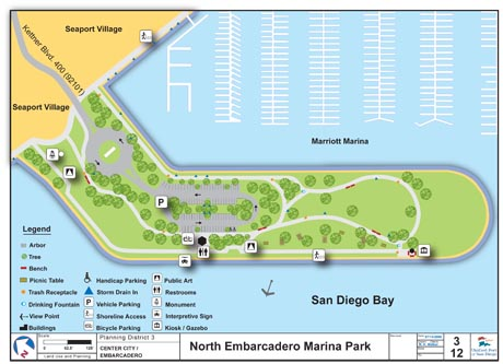 Layout of Embarcadero Marina Park North