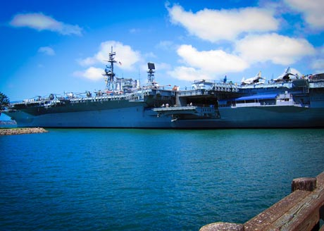 Picture of the USS Midway at San Diego Bay